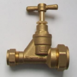 Brass 15mm x 25mm Blue Alkathene Reducing Stop Cock - 07001623